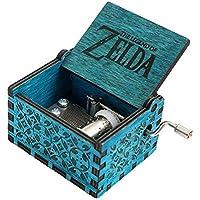 FnLy 18 Nota Grabado Madera Leyenda de Zelda Thame Caja de música, Antiguo Tallado manivela