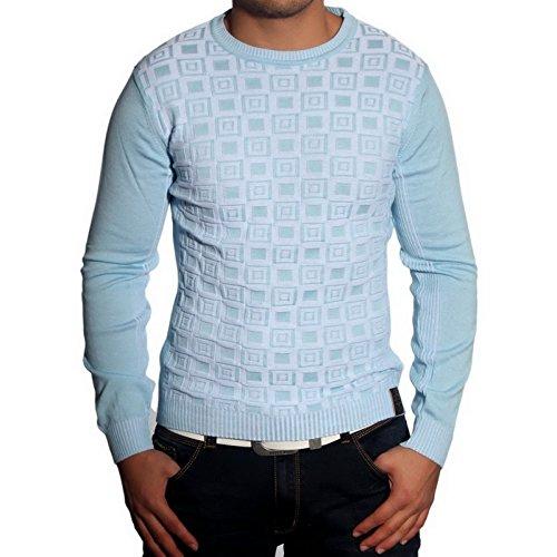 R-Neal RN-3178 Herren Pullover Karo Pulli Sweatshirt Jacke Hoodie T-Shirt Neu Türkis