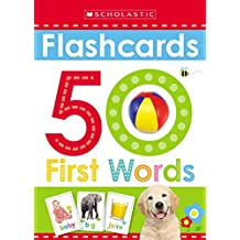 ‏‪Flashcards: 50 First Words (Scholastic Early Learners)‬‏