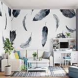 NXMRN Abstrakte Fototapete 3D Für Wohnzimmerhauptwanddekor-Kundengröße Druckte Wandpapier-Federwandgemälde 150Cmx100Cm