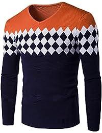 a304a8e9c5491 Col V Homme Pull Tricot Casual LâChe Pullover Slim Pas Cher à La Mode Chic  Chemisier