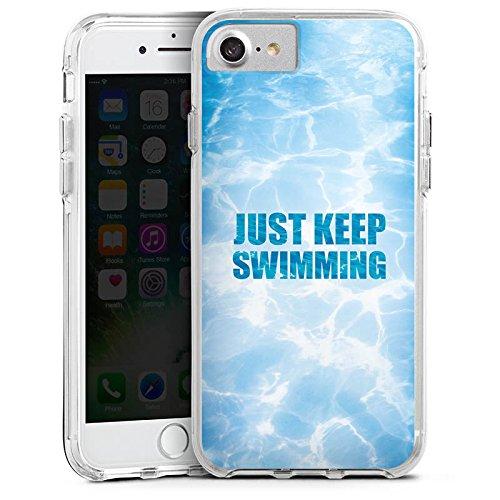 Apple iPhone 6s Bumper Hülle Bumper Case Glitzer Hülle Schwimmen Wellen Schwimmbad Bumper Case transparent