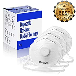 Atemschutzmaske NASUM 10Stk, FFP1 Hochwertige Staubmaske für Mundschutz, individuell Verstellbare Feinstaubmaske und faltbar, für Smog-Wetter/Krankenhäuser/Bergbau