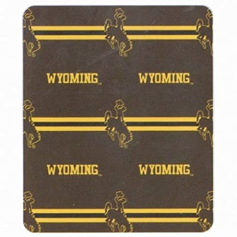 UNIV OF WYOMING COWBOYS Classic Lightweight Fleece Blanket Throw (Measures Approx. 50 x 60 NCAA New Design by Augusta Sportswear