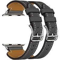 Per Apple Watch Band Serie 1Serie 2, doppia fibbia polsino in pelle cinturino di ricambio (Formula 1 Womens Watch)