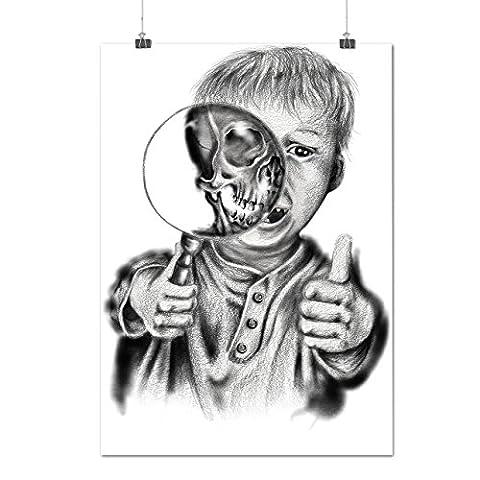 Kind schaurig Schrei Horror Monster Junge Mattes/Glänzende Plakat A3 (42cm x 30cm) | Wellcoda (Fbi-kostüm Für Jungen)