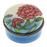 Old Tupton Ware Carnation Design - Round Trinket Box