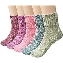 Bllatta Calcetines térmicos ricos en Algodón Wool para Mujer ...