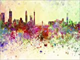 Posterlounge Forex-Platte 130 x 100 cm: Guangzhou-Skyline von Editors Choice