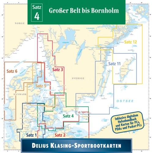 Sportbootkarten 04. Großer Belt bis Bornholm
