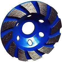 Gazechimp Muela de Diamante Molinillo de Piedra de Hormigón Herramienta 100mm Color Negro/Verde/Azul/Rojo - Azul