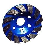 Baoblaze Disque Diamant à Meuler Poncer Assiette pour Meuleuse Béton Pierre 100x22mm - Bleu