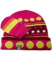 Smartwool Merino Set Mütze und Handschuhe, Dot Hat/Mitt Set berry, 0-6 Monate