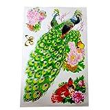 4D Design Peacock Wall Sticker