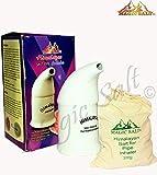 Magic Salt ® Sal Inhalador con 100% puro cristales de sal del Himalaya 300 Grm en Porcelana de alta calidad de la pipa