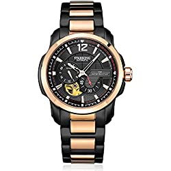 STARKING Men's AM0167RS32 Two-Tone Automatic Skeleton Function Dress Watch