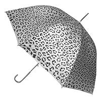 Metalic Animal Print Stick Umbrella - Silver