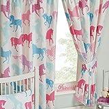 Patchwork Ponies Horses/Pferde Lined Vorhänge 72