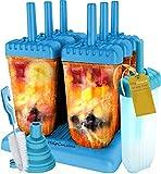 HelpCuisine® Molde para Helados/Moldes de Polos - Juego de Seis Unidades sin BPA y Aprobado por FDA. 24 Meses de Garancia! (Azul)