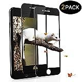 Sanfee Panzerglas Schutzfolie für iPhone 7 8 9H Gehärtetes Glas 2 Stück Vollständige Abdeckung Ultra HD Clear Kratzfest Einfach zu Installieren Gebogene Folie für Apple iPhone 7 iPhone 8
