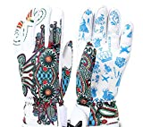Ski Handschuhe Warme Winter Snowboard Handschuhe Wasserdicht Winddicht Handschuhe, Verstellbare Manschetten, Geeignet Für Radfahren, Snowboarden, Skifahren Und Andere Wintersportarten,White,L