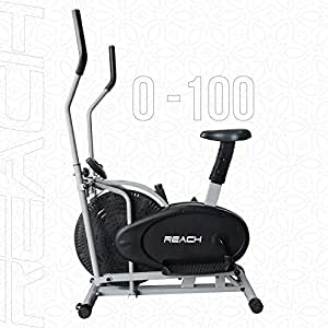 Reach Orbitrek/Orbitrack Exercise Cycle and Cross Trainer | Dual Trainer 2 in 1 Home Fitness Gym Equipment | Scientifically Designed for Complete Body Workout with Minimum Pressure on Knees.