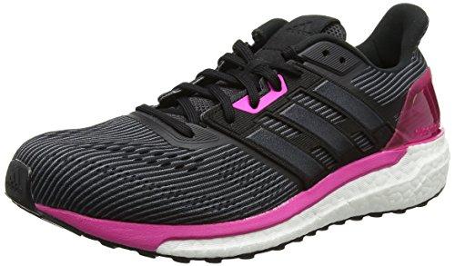 adidas Damen Supernova Laufschuhe Schwarz (Utility Black /core Black/shock Pink )