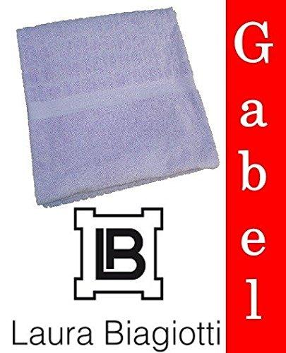 Laura Biagiotti Telo doccia bagno tinta unita Lilla spugna moda By Gabel