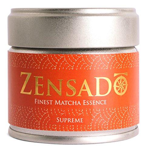 ZENSADO | SUPREME | FINEST MATCHA ESSENCE | Matcha-Tee-Pulver | Grüntee-Pulver für Matcha-Getränk, Matcha-Smoothies, Matcha-Latte | Premium Qualität aus Japan | 30g