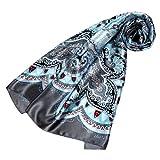 LORENZO CANA Luxus Damen Seidentuch aufwändig bedruckt Tuch 100% Seide 90 x 90 cm harmonische Farben Damentuch Schaltuch 89078