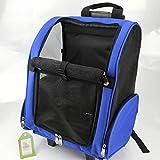 ZXLDP Haustier Trolley Case Portable Hund Rucksack Komfort Erweiterbar Reisen Hunde Träger Katze Reisetasche Farbe Optional (Farbe : Blau)