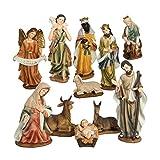 We Love Christmas Statuine Presepe: Nativita composta da 11 Personaggi 40 cm