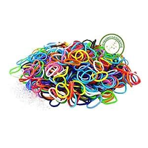 lot de 600 cercles élastiques caoutchouc multicolor pour faire bracelet LOOM