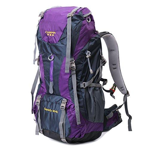 Local Lion 60 Lzaino borsa unisex sportivo outdoor professionale viaggio montagna da spalla outdoor campeggio escursionismo Blu e viola