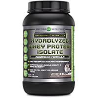Amazing Muscle Ultra Pure Hydrolyzed Whey Protein Isolate * Supports Lean Muscle Growth & Rapid Recovery (Cookies & Cream)3 lb
