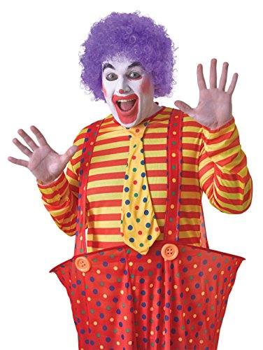 2Pop Perücke Budget. Lila, ONE SIZE (Lila Afro Clown Perücke)