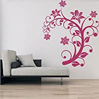 Floral arco Centrotavola Floral Design Wall Stickers Home Decor Art Stickers disponibile in 5 dimensioni (Archi Wall Art)