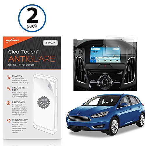 Boxwave Cleartouch Screen Protector (Ford Ford 2016Focus (8in) Displayschutzfolie, BoxWave ClearTouch AntiGlare (2er Pack)] [Anti-Fingerprint Matt Folie Haut für Ford Ford 2016Focus (8in))