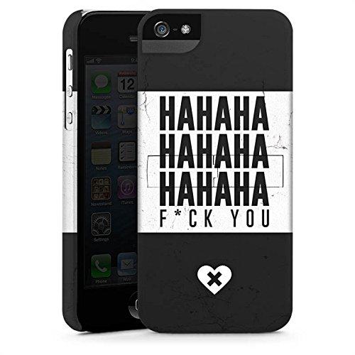 Apple iPhone X Silikon Hülle Case Schutzhülle Haha Sprüche Statement Premium Case StandUp