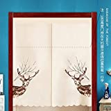 "EQEQ Silk Road Nordic embroidery rideau, rustic partition door shutters for the Bedroom Kitchen valances padded - a 33"" × 47"""