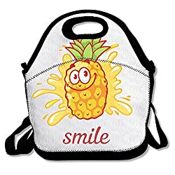 Purple Phantom Cartoon Pineapple Simple Interesting Outdoor Lunch Bag Lunch Box Thermal Insulated Tote Cooler Lunch Pouch Gift For Women Men Kids Girls