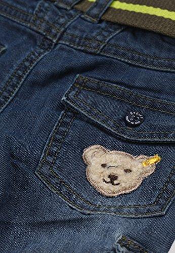 Steiff Baby - Jungen Jeans, Einfarbig, Gr. 62, Blau (Dark Blue Denim Blue 0012) -