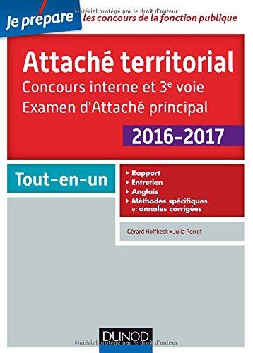 Attaché territorial 2016-2017 : Concours interne et 3e voie, Examen d'Attaché principal