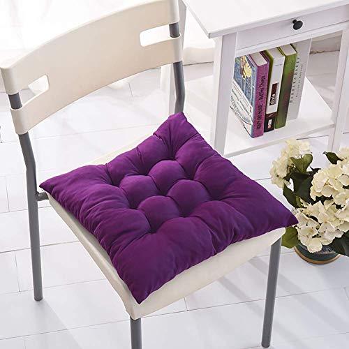 AGOPO Stuhlmatte, Polyester verdicken Stuhlkissen, Home Fashion Kissen perfekte Indoor Outdoor solide Wicker Sitzkissen, 2-Pack-H 40x40 cm (16 x 16 Zoll) (Farbe : E, Größe : 40x40cm(16x16inch))