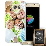dessana Eigenes Foto transparente Silikon TPU Schutzhülle 0,7mm dünne Handy Tasche Soft Case für Samsung Galaxy S6 Personalisiert Motiv