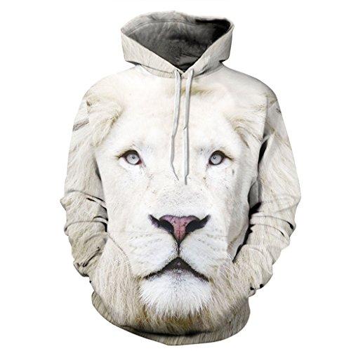 Einzigartige 3d Löwe König Pullover Kapuzenpullover Sweatshirt Für Damen M