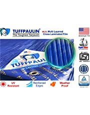 TUFFPAULIN Waterproof UV Treated Plastic Virgin Extra Strong Tirpal Tarpal 200 Microns 2016 Approved Tarpaulin , 9x12 ft, Blue