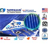 TUFFPAULIN Tarpaulin Sheet Waterproof |UV Treated|Multi Layered-Cross Laminated|Virgin Plastic Extra Strong Tirpal Tarpal IS14611:2016 Approved (120 GSM)