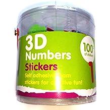 Adesivi 3D in gommapiuma, confezione da 100 pezzi, per bambini, ragazzi e ragazze, artigianato, album ricordi, biglietti, sacchetti regalo - Scott Album