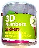 Appliances Best Deals - Scott Appliances Lot de 100 stickers 3D en mousse en forme de chiffres
